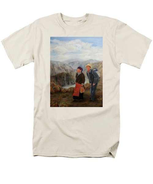 Men's T-Shirt  (Regular Fit) featuring the painting To Market by Roseann Gilmore