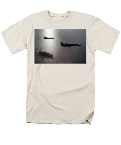 Men's T-Shirt  (Regular Fit) featuring the photograph Tomcat Silhouette  by Peter Chilelli
