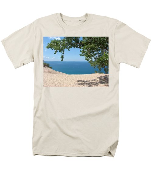 Top Of The Dune At Sleeping Bear Men's T-Shirt  (Regular Fit) by Michelle Calkins