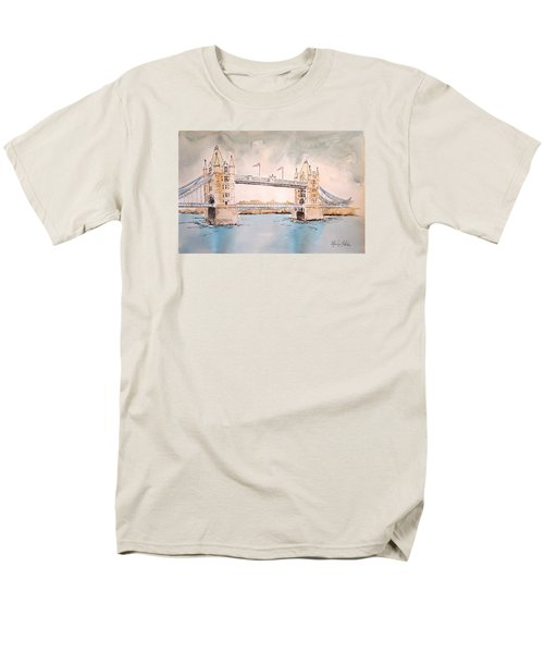 Men's T-Shirt  (Regular Fit) featuring the painting Tower Bridge by Marilyn Zalatan