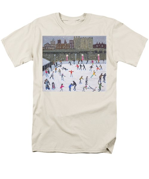 Tower Of London Ice Rink Men's T-Shirt  (Regular Fit) by Andrew Macara