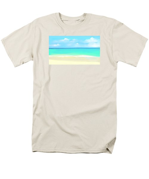 Tranquil Beach Men's T-Shirt  (Regular Fit) by Anthony Fishburne