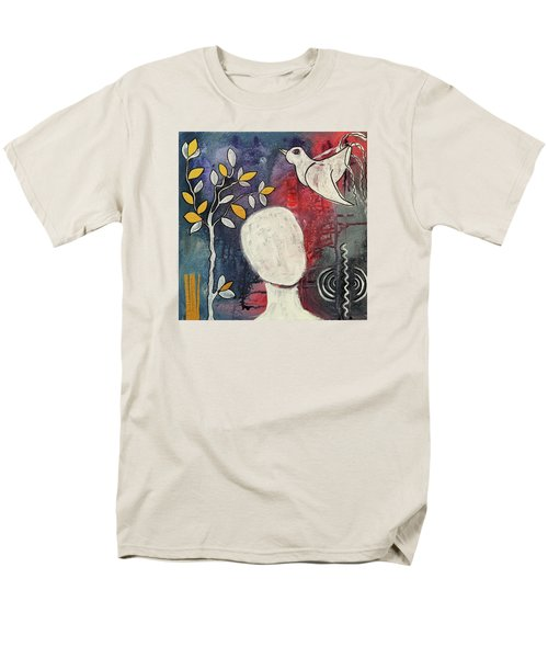 Men's T-Shirt  (Regular Fit) featuring the mixed media Tranquility by Mimulux patricia no No