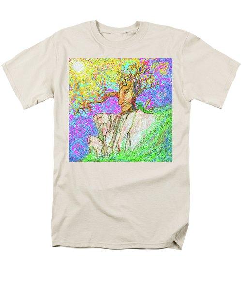 Tree Touches Sky Men's T-Shirt  (Regular Fit) by Hidden Mountain and Tao Arrow