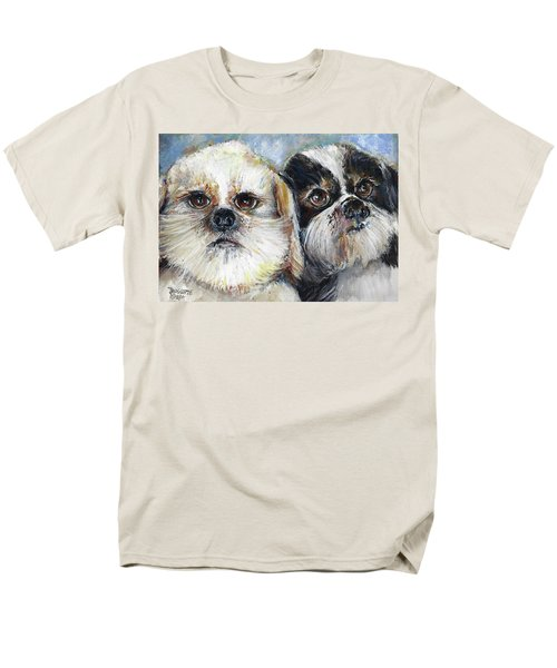 Men's T-Shirt  (Regular Fit) featuring the painting Trouble And Lexi by Bernadette Krupa