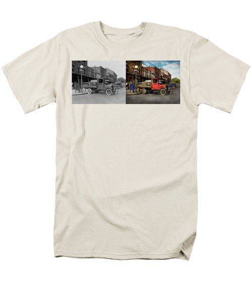 Truck - Home Dressed Poultry 1926 - Side By Side Men's T-Shirt  (Regular Fit) by Mike Savad