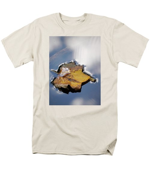 Men's T-Shirt  (Regular Fit) featuring the photograph Tulip Leaf On Water by Jane Ford
