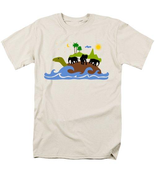 Turtles All The Way Down Men's T-Shirt  (Regular Fit)