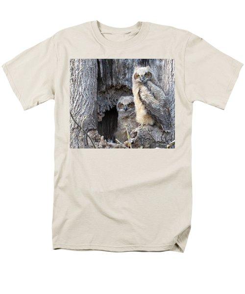 Twin Owls Men's T-Shirt  (Regular Fit) by Jeanette Oberholtzer