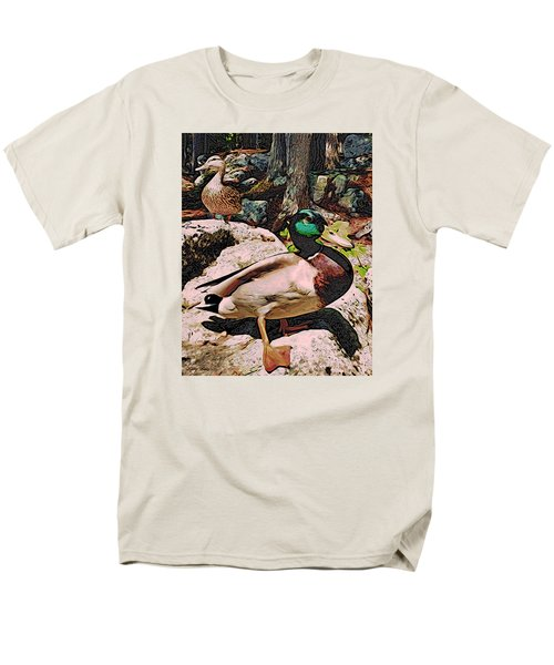 Men's T-Shirt  (Regular Fit) featuring the photograph Ducks -dynamic Duo by Kathy Kelly