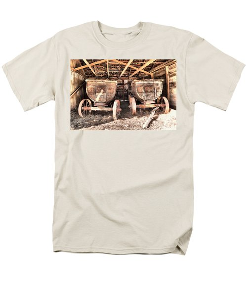 Men's T-Shirt  (Regular Fit) featuring the photograph Two Old Wagons by Jeff Swan