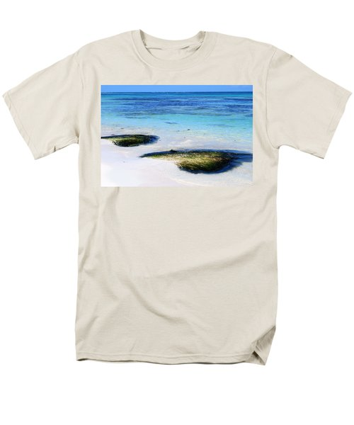 Two Seaweed Mounds On Punta Cana Resort Beach Men's T-Shirt  (Regular Fit) by Heather Kirk