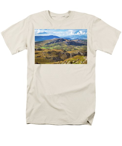 Men's T-Shirt  (Regular Fit) featuring the photograph Undulating Landscape In Kerry In Ireland by Semmick Photo