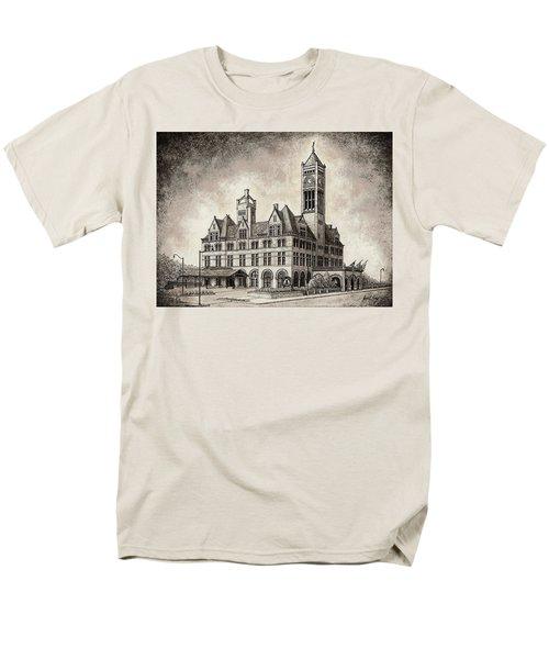 Union Station Mixed Media Men's T-Shirt  (Regular Fit)