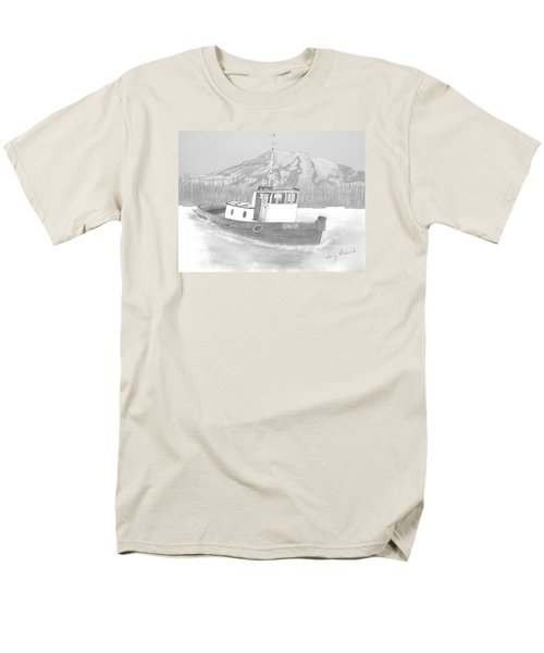 Men's T-Shirt  (Regular Fit) featuring the drawing Tugboat Union by Terry Frederick