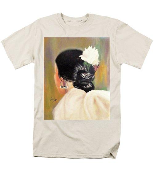 Untitled Dancer With White Flower Men's T-Shirt  (Regular Fit) by Manuel Sanchez