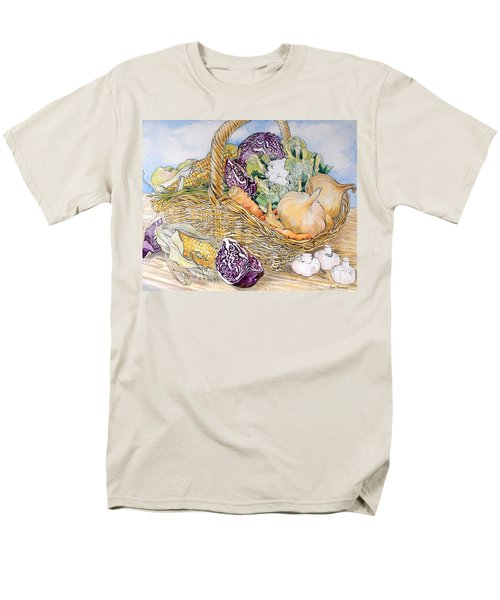 Vegetables In A Basket Men's T-Shirt  (Regular Fit) by Joan Thewsey