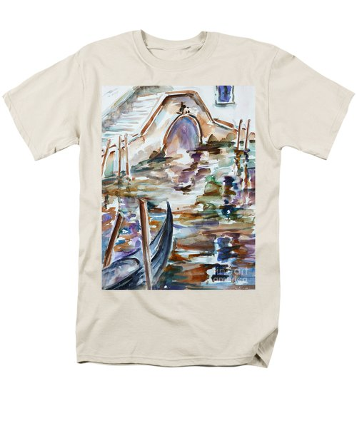 Men's T-Shirt  (Regular Fit) featuring the painting Venice Impression I by Xueling Zou