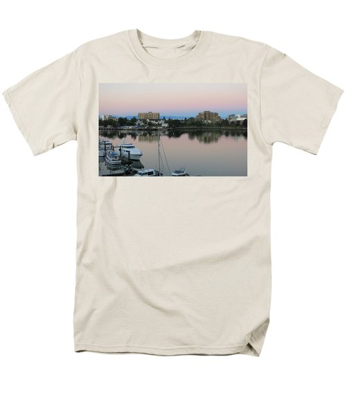 Victoria Harbor Dawn Men's T-Shirt  (Regular Fit) by Betty Buller Whitehead