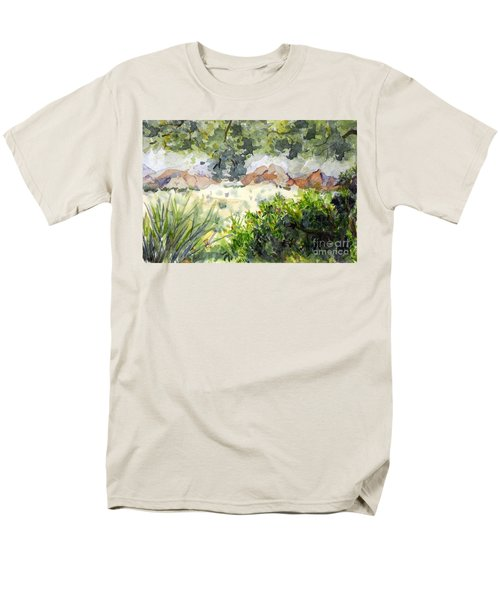 View At Red Rock Men's T-Shirt  (Regular Fit) by Vicki  Housel