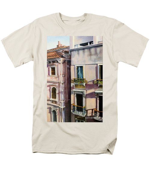 Men's T-Shirt  (Regular Fit) featuring the painting View From A Venetian Window by Marlene Book