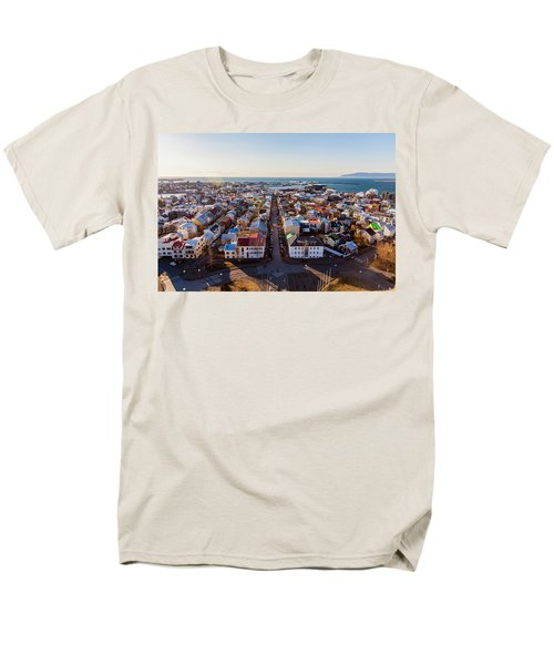 View From Hallgrimskirka Men's T-Shirt  (Regular Fit) by Wade Courtney