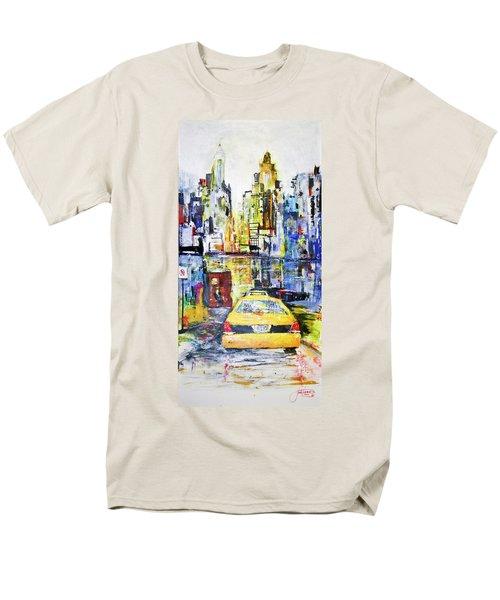 View To Manhattan Men's T-Shirt  (Regular Fit)