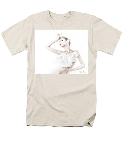 Viktory In White - Feathered Men's T-Shirt  (Regular Fit) by Rikk Flohr