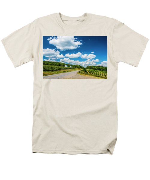 Men's T-Shirt  (Regular Fit) featuring the photograph Vineyards In Summer by Steven Ainsworth