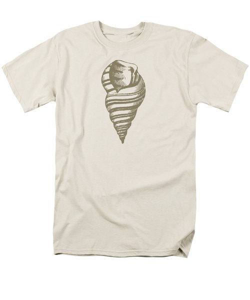 Vintage Sea Shell Illustration Men's T-Shirt  (Regular Fit) by Masterpieces Of Art