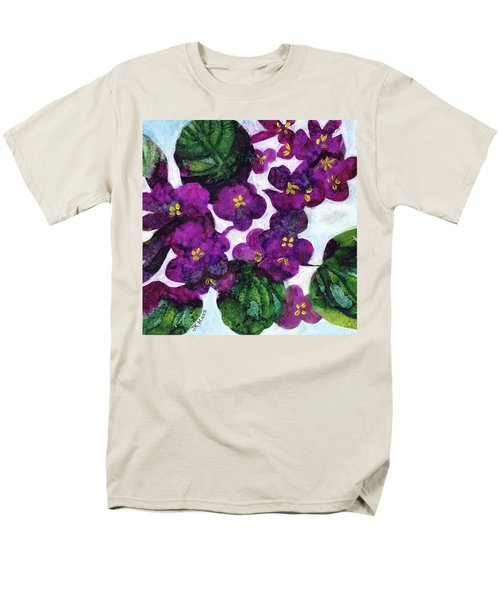 Men's T-Shirt  (Regular Fit) featuring the painting Violets by Julie Maas