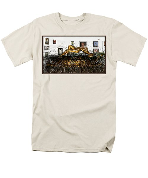 Virtual Exhibition With Birthday Cake Men's T-Shirt  (Regular Fit) by Pemaro