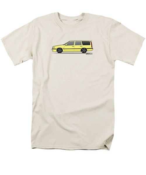 Volvo 850r 855r T5-r Swedish Turbo Wagon Cream Yellow Men's T-Shirt  (Regular Fit) by Monkey Crisis On Mars