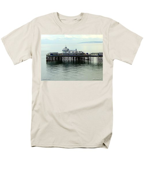 Men's T-Shirt  (Regular Fit) featuring the photograph Wales Boardwalk by Joan  Minchak