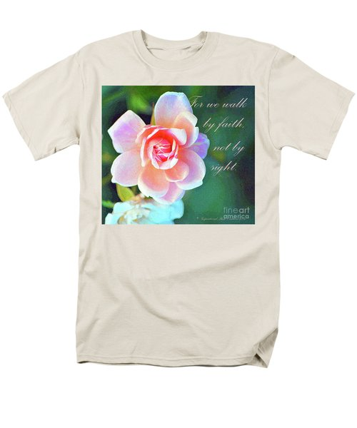 Walk By Faith Men's T-Shirt  (Regular Fit) by Inspirational Photo Creations Audrey Woods