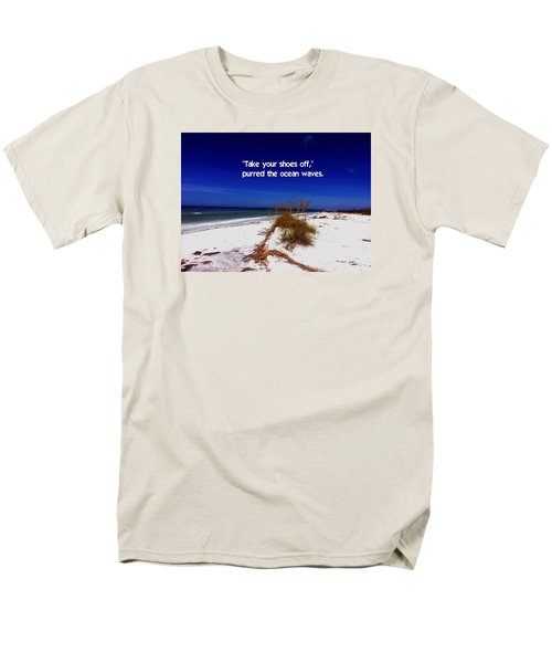 Men's T-Shirt  (Regular Fit) featuring the photograph Walk In The Sand by Gary Wonning