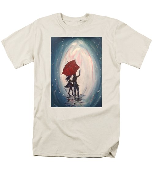 Walking In The Rain Men's T-Shirt  (Regular Fit) by Roxy Rich
