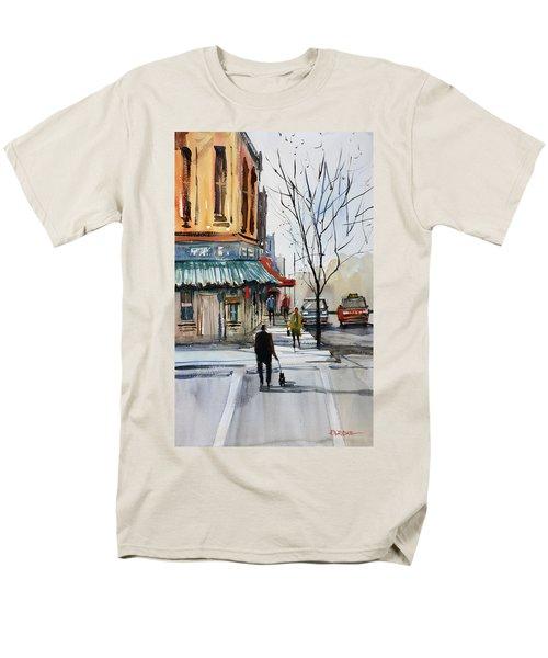 Walking The Dog Men's T-Shirt  (Regular Fit) by Ryan Radke