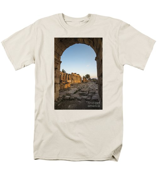 Men's T-Shirt  (Regular Fit) featuring the photograph Walking The History In Hierapolis by Yuri Santin