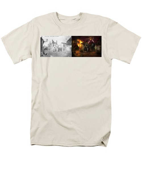 War - Wwi -  Not Fit For Man Or Beast 1910 - Side By Side Men's T-Shirt  (Regular Fit) by Mike Savad
