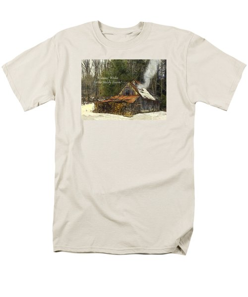 Men's T-Shirt  (Regular Fit) featuring the photograph Warmest Wishes For The Holiday Season Greeting Card by Betty Denise