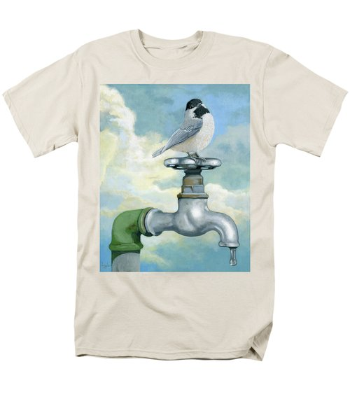 Men's T-Shirt  (Regular Fit) featuring the painting Water Is Life - Realistic Painting by Linda Apple