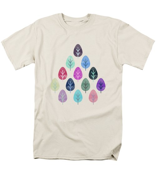 Watercolor Forest Pattern  Men's T-Shirt  (Regular Fit) by Amir Faysal