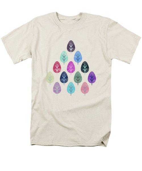 Watercolor Forest Pattern  Men's T-Shirt  (Regular Fit)