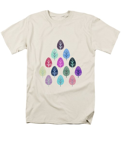 Watercolor Forest Pattern II Men's T-Shirt  (Regular Fit) by Amir Faysal