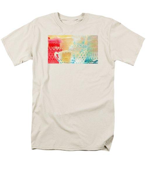 Watercolor Glassware Men's T-Shirt  (Regular Fit) by Bonnie Bruno