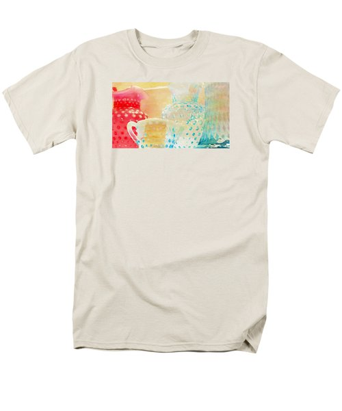 Watercolor Glassware Men's T-Shirt  (Regular Fit)