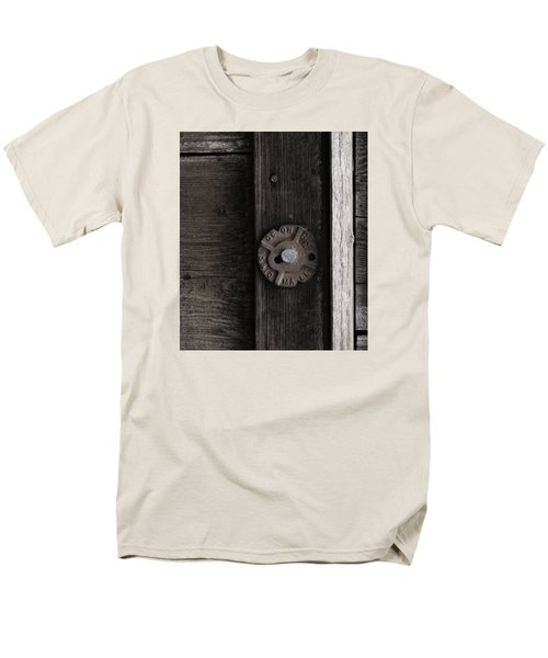Men's T-Shirt  (Regular Fit) featuring the photograph Weathered Wood And Metal Two by Kandy Hurley