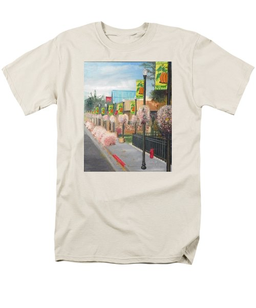 Men's T-Shirt  (Regular Fit) featuring the painting Welcome To Vernal by Sherril Porter