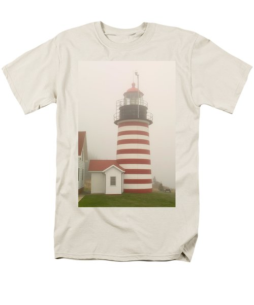 West Quody Head Lighthouse Men's T-Shirt  (Regular Fit) by Brent L Ander